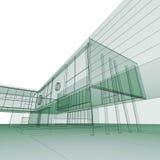 Green blueprint on white Royalty Free Stock Photos
