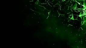 Free Green Blurred Abstract Plexus Particle Effect Background. Mess Communication Technology Network Background With Moving Lines And Stock Photography - 213505472