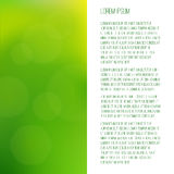 Green blurred background with bokeh. There is a place for text.  Stock Image