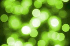 Green blurred background of lights Stock Image