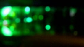 Green blurred disco light, entertainment, stock footage