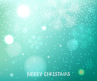 Green blurred horizontal winter background Stock Images