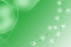 Green_blurry-particle_ Hintergrund stockbild