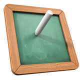 Green board and chalk Stock Photography