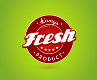 Green board with fresh product sign. Royalty Free Stock Photos