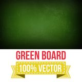 Green board with text on chalkboard.Vector Stock Image