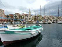 Free Green Boat At Sanary-sur-mer, France Royalty Free Stock Photos - 23882628