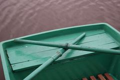 Green boat Stock Images