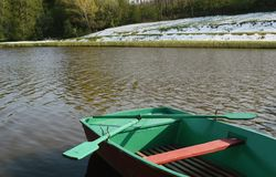 Green boat Stock Photography