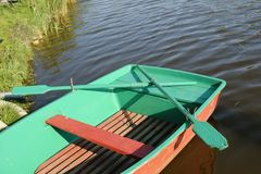 Green boat Royalty Free Stock Photos