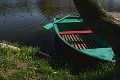 Green boat Royalty Free Stock Images