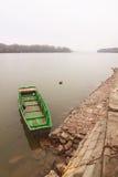 Green boat Stock Photo