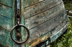 Green Boat Lunenburg Stock Image
