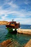 Green Boat ship Stock Image