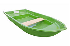 Green boat. On a white background Royalty Free Stock Photo