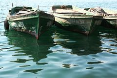 Green boats Royalty Free Stock Photos