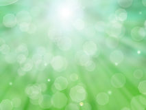 Green bokeh. Light through the foliage of trees and patches of light vector illustration