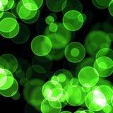 Green bokeh. Nice green defocused lights background Stock Photography