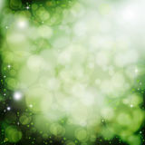 Green bokeh abstract background Stock Images