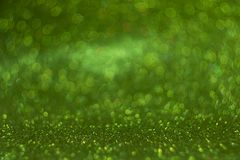 Green bokeh, abstract defocused lights. Royalty Free Stock Images