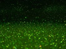 Green bokeh, abstract defocused lights. Green bokeh, abstract with defocused lights stock photo