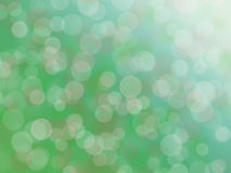 Green bokeh abstract light background. Royalty Free Stock Image