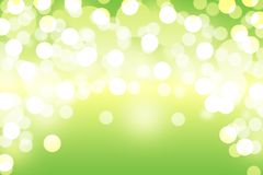 Green bokeh abstract light background Stock Photography