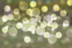 Green bokeh abstract light background Royalty Free Stock Photos
