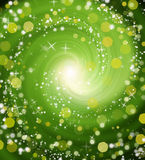 Green bokeh abstract light background. Stock Photos