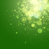 Green bokeh abstract light background. Royalty Free Stock Photo