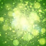 Green bokeh abstract light background. Stock Images