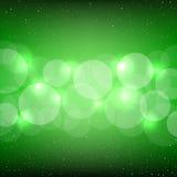Green bokeh backdrop Royalty Free Stock Images