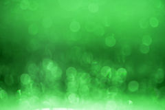 Green bokeh background. Stock Images