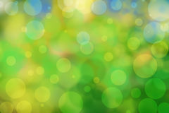 Green bokeh background with circles. Summer abstract theme Royalty Free Stock Photography