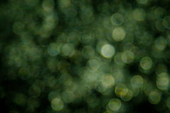 Green bokeh background created by neon lights.  Royalty Free Stock Image