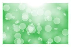 Green bokeh background with natural sunlight - vector concept Stock Photo