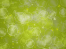 Green bokeh circles background Royalty Free Stock Photography