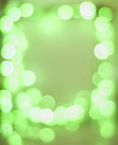 Green bokeh frame Royalty Free Stock Image