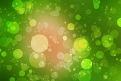 Green bokeh and green background Royalty Free Stock Photo