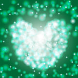 Green bokeh lights background vector illustration. Eps 10 stock illustration