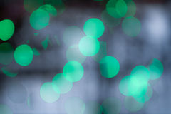 Green  Bokeh Lights Royalty Free Stock Photography