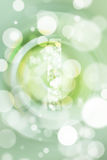 Green bokeh number background, blured.  Stock Images
