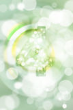 Green bokeh number background, blured Royalty Free Stock Images