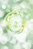 Green bokeh number background, blured.  Royalty Free Stock Images