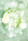 Green bokeh number background, blured.  Royalty Free Stock Photography