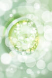 Green bokeh number background, blured Royalty Free Stock Photos