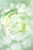 Green bokeh number background, blured.  Royalty Free Stock Photos