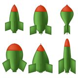 Green Bombs Royalty Free Stock Photography