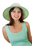 Green bonnet Royalty Free Stock Images