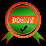 Green bonus icon Stock Images